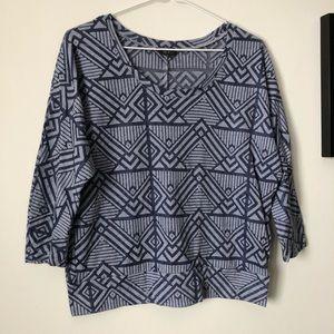 Talula | geometric pattern top | size Medium
